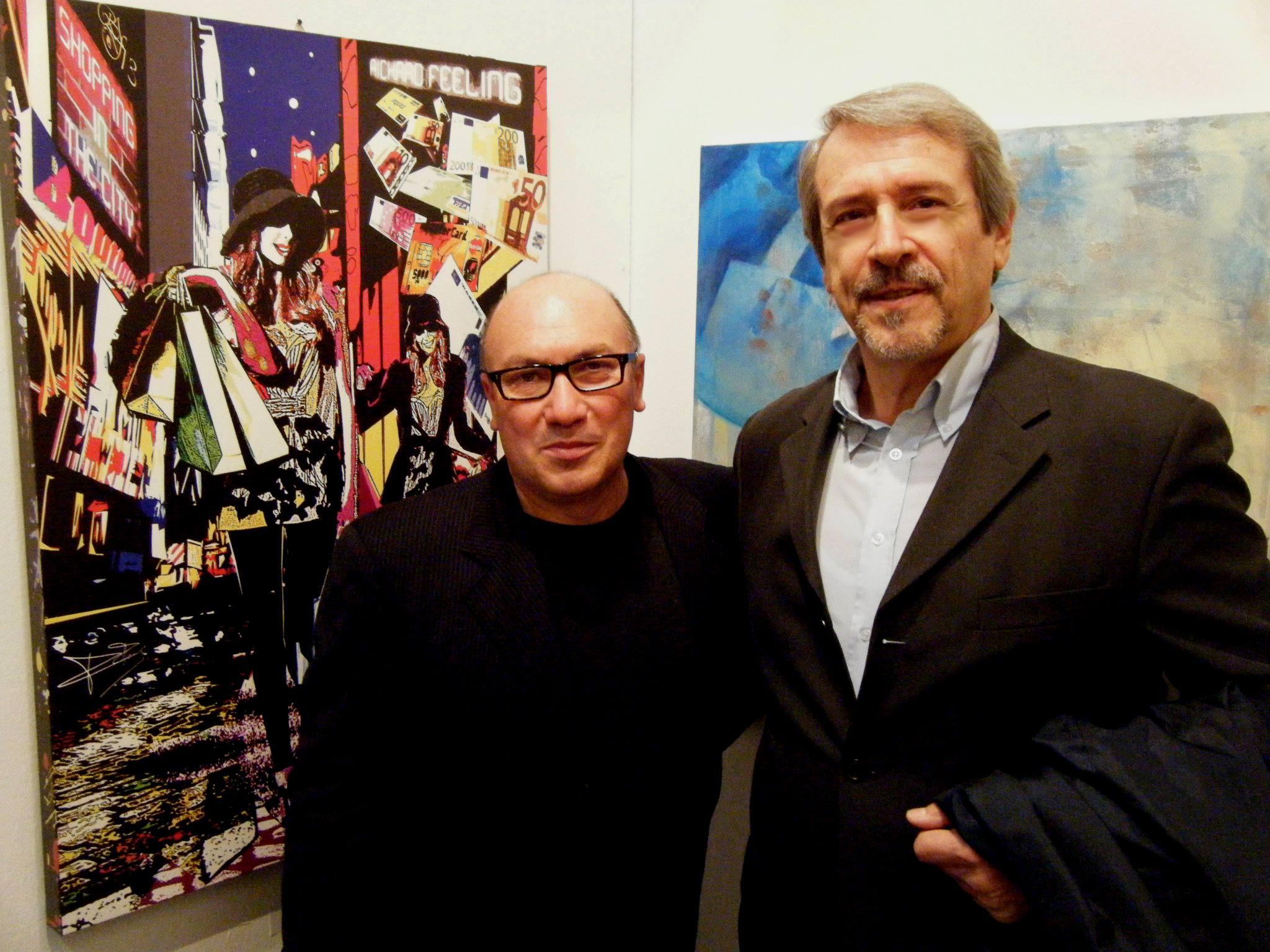 Con il critico d'arte Gianluigi Guarnieri