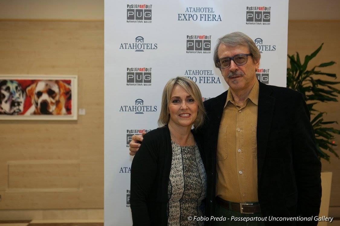 Con l'Art Promoter e Gallerista Elena Ferrari