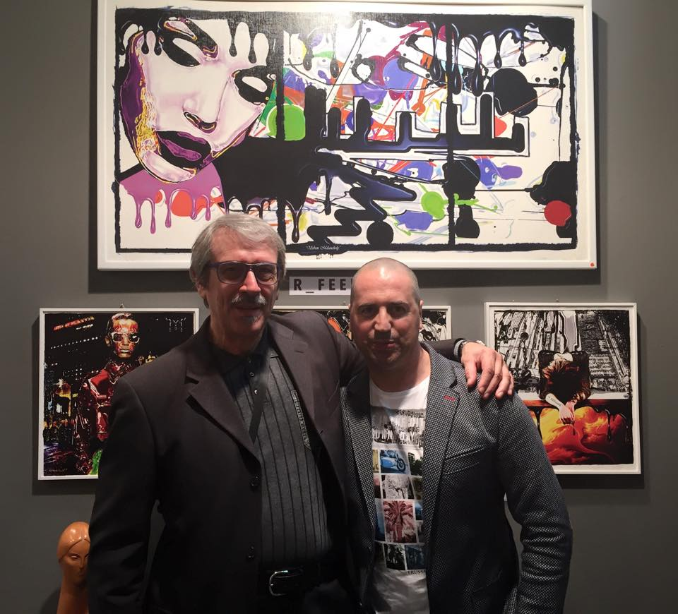 Con l'Art Promoter Massimo Basile