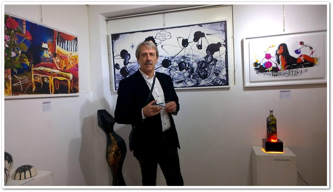 L'artista Giancarlo Uva