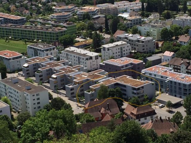 Überbauung Viehmarkt Lenzburg (Markierung: Genossenschaft wia)