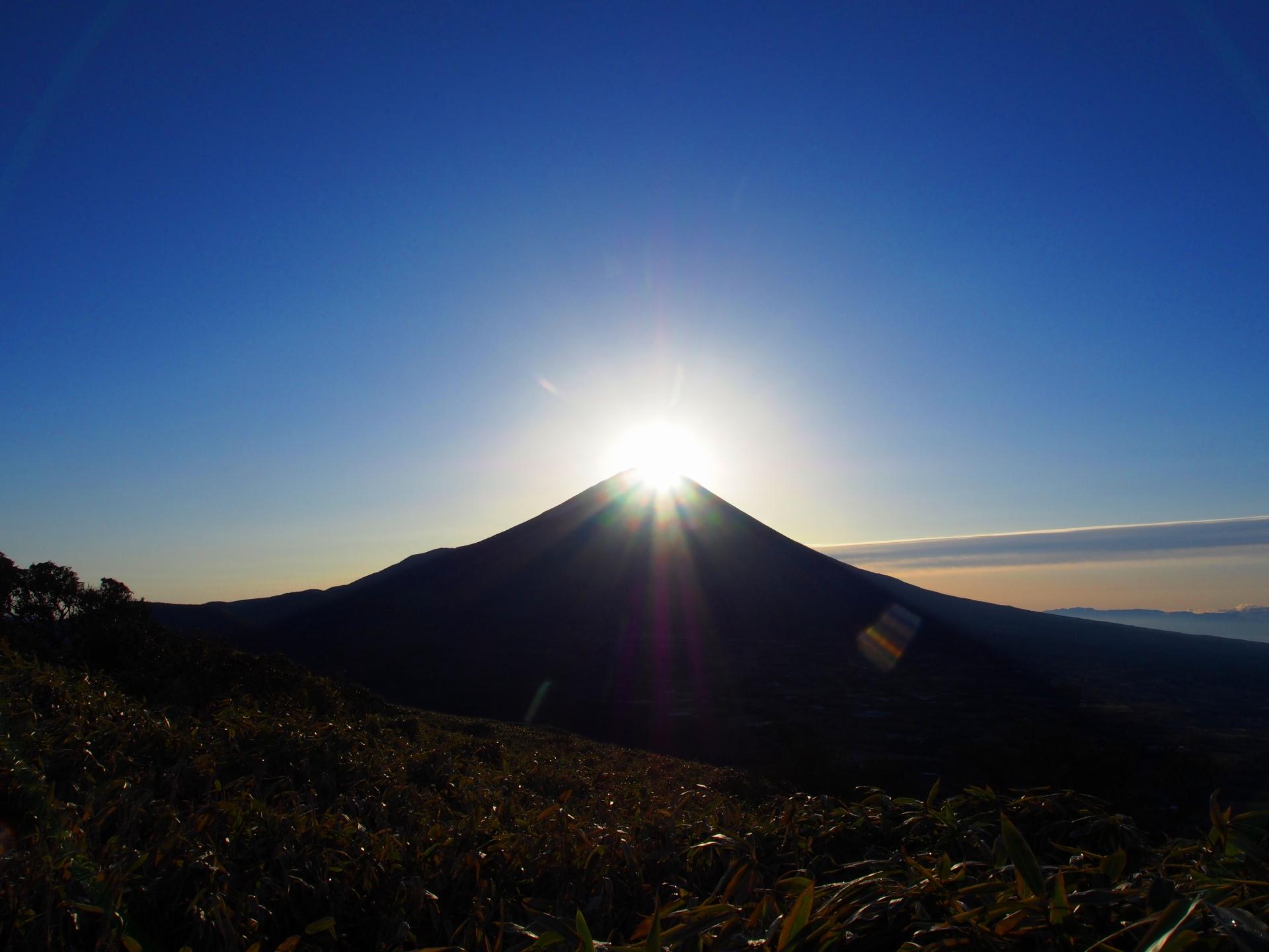 今年の締めくくりにダイアモンド富士☆竜ヶ岳