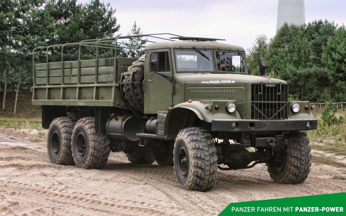 Chevy 2015 Trucks KRAZ 255B LKW - PANZER-POWER   Die Panzerfahrschule