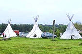Indianer Tipi-Dorf Bertingen