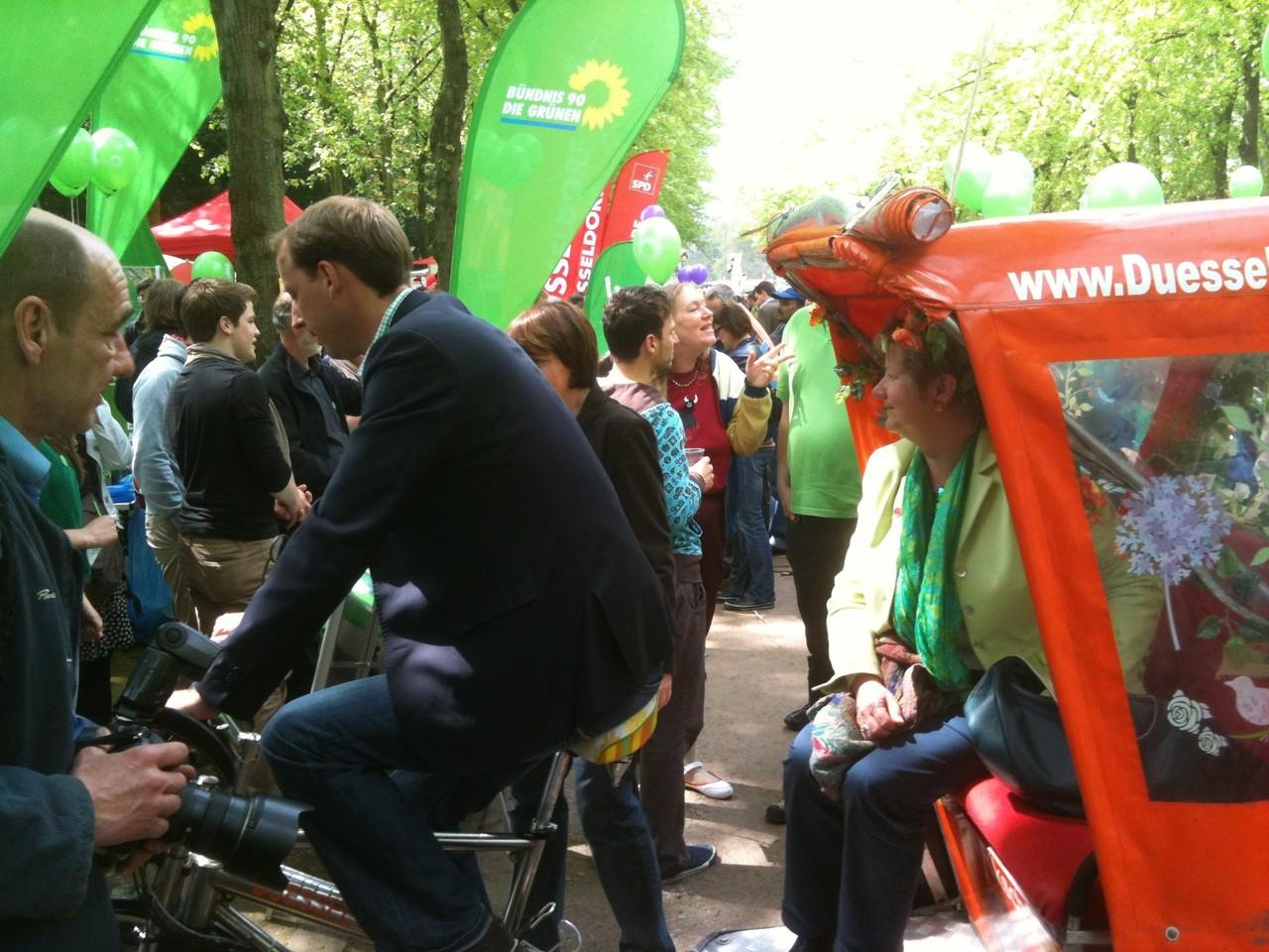 Werbefahrt, Die Gruenen NRW, 1. Mai 2012, Hofgarten Duesseldorf