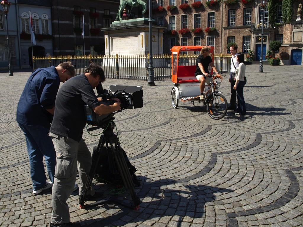 Filmaufnahmen für Werbefilm Stadt Düsseldorf