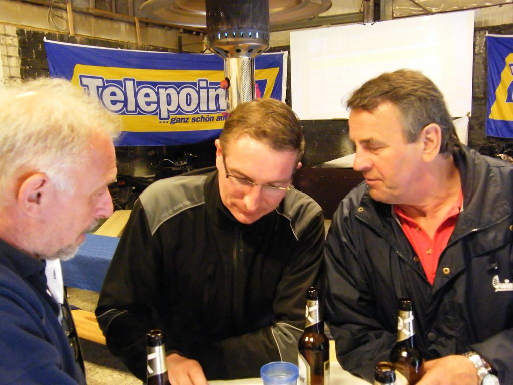 Wolfgang, Heiko und Manni im Fachgespäch