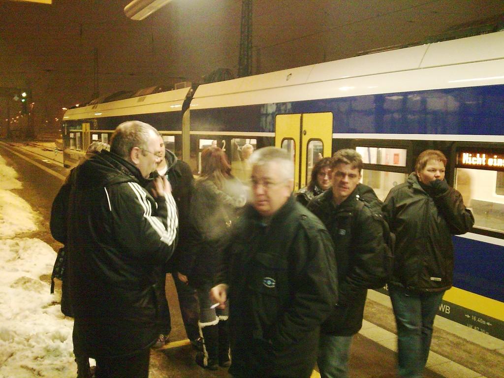 am HB-Hauptbahnhof angekommen...