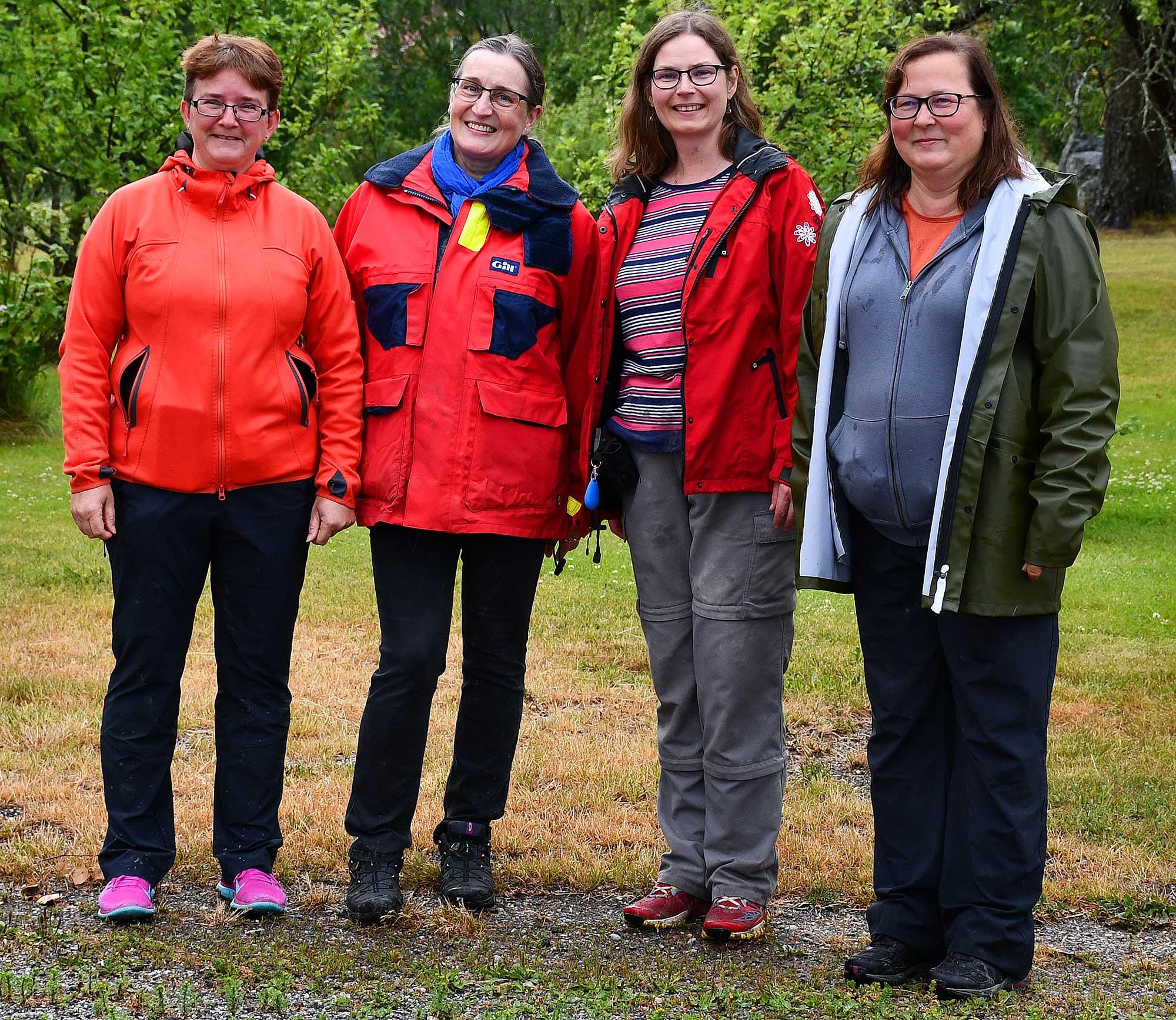 Cornelia Biedermann (ganz links) mit Tarja Karlemo, Mari Ojala und Taina Lestelin (v.l.n.r.).