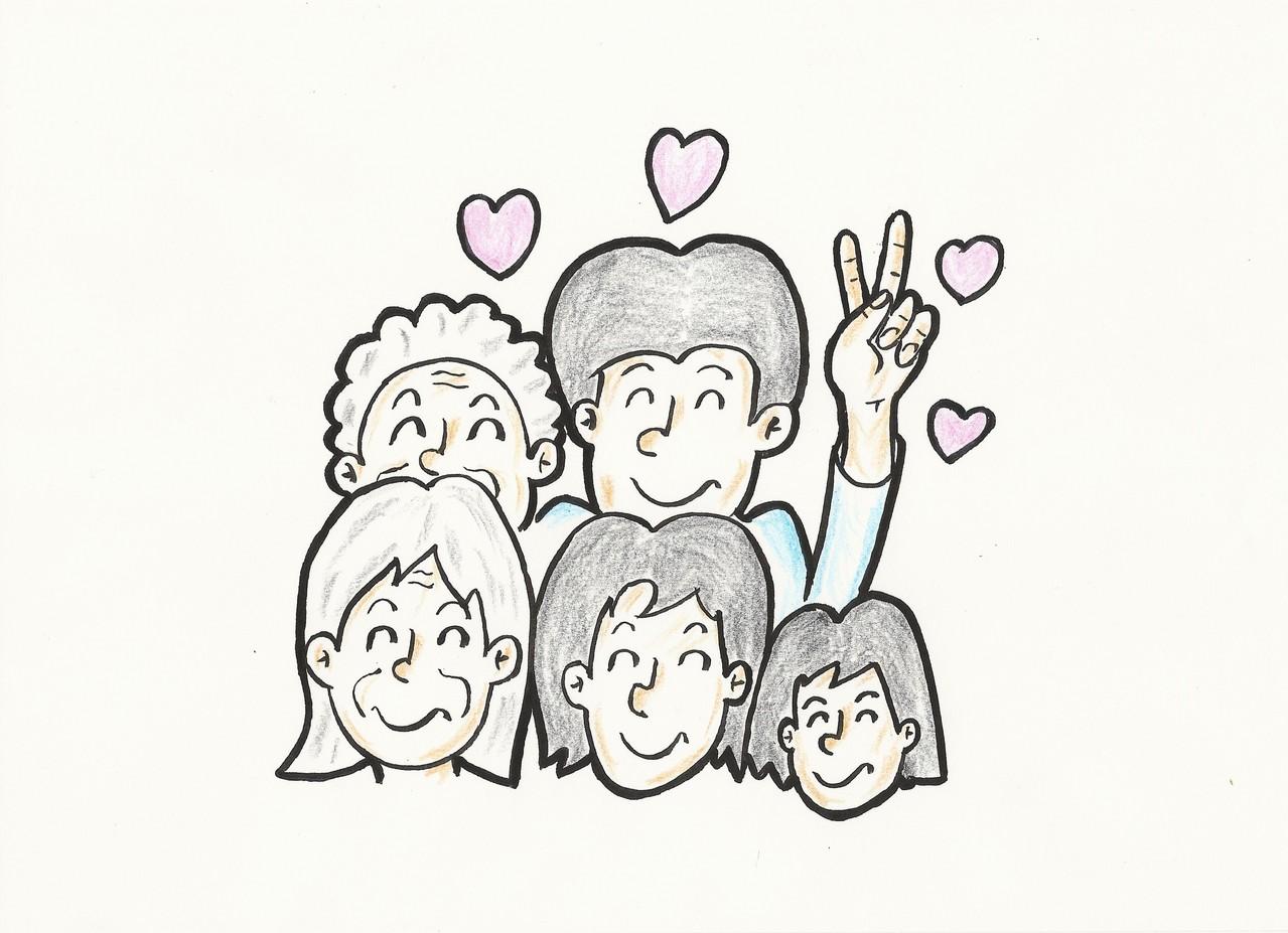 社会の単位は、お一人ですが家族の笑顔をつくるためにあります。三世代の笑顔です。