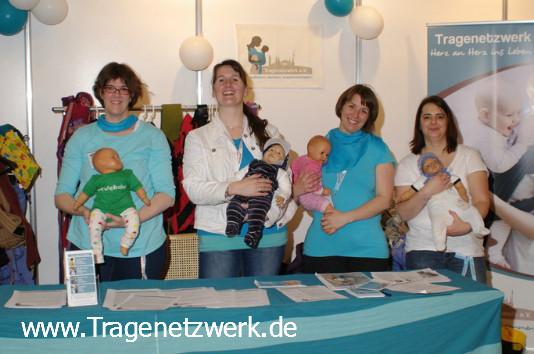Stand des Tragenetzwerkes e.V. auf der Babywelt Rhein-Ruhr im Mai 2013