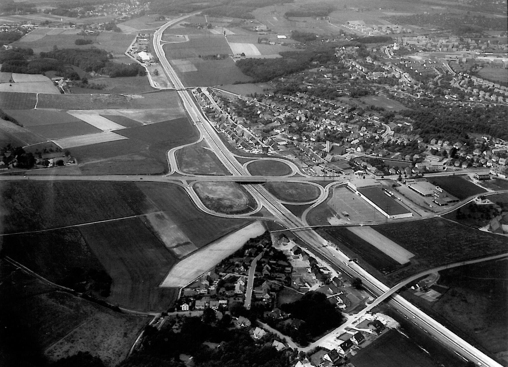 1972 - Luftbild von Nahne