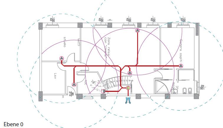 Sistem Air Beispiel 2 Leitungsverlegungs Plan