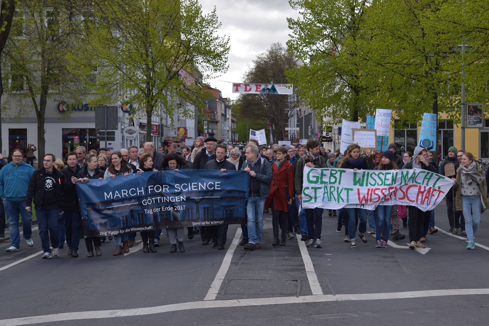 March for Science auf dem Weg zum Zentralcampus. Foto: Hatice Karakus