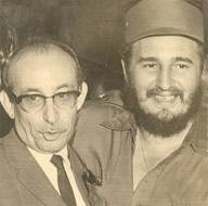 Raúl Roa y Fidel Castro