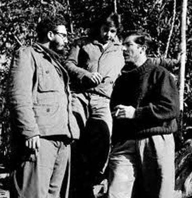 Fidel Castro y Enrique Meneses en la Sierra Maestra