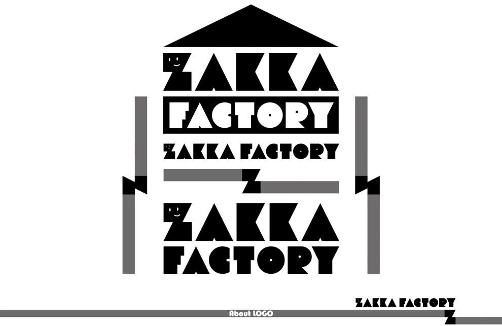 名古屋 ロゴデザイン 制作実績 ZAKKA FACTORY ロゴマーク ロゴタイプ