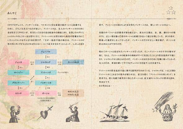 二つ折りパンフレット2つ折リーフレットデザイン高校芸術鑑賞会朗読劇ミュージカル中面