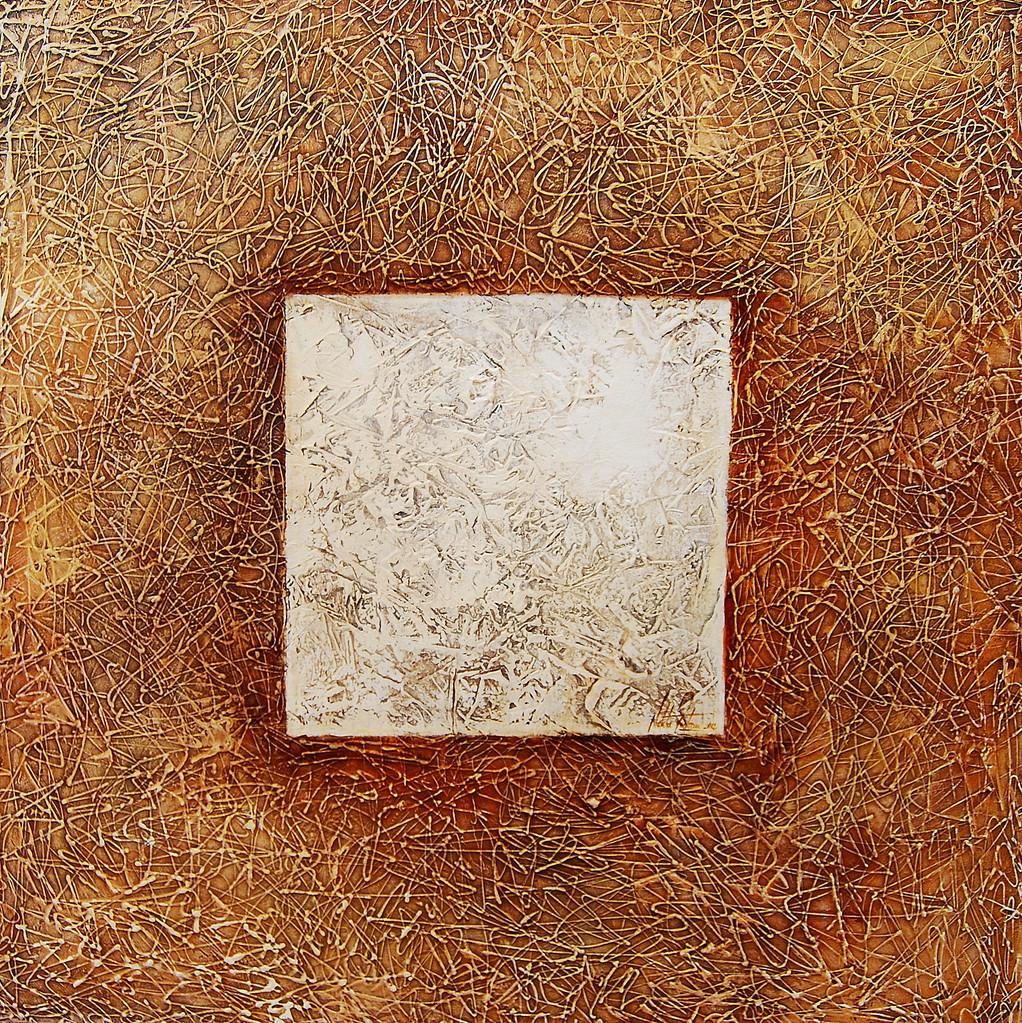 Kubik 120 x 120 cm Acryl auf Leinwand. Galeriekeilrahmen.