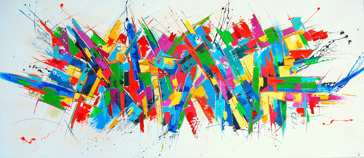 160 x 70 cm Acryl auf Leinwand, Galeriekeilrahmen.