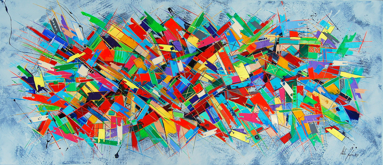 160 x 70 cm cm Acryl auf Leinwand, Galeriekeilrahmen.