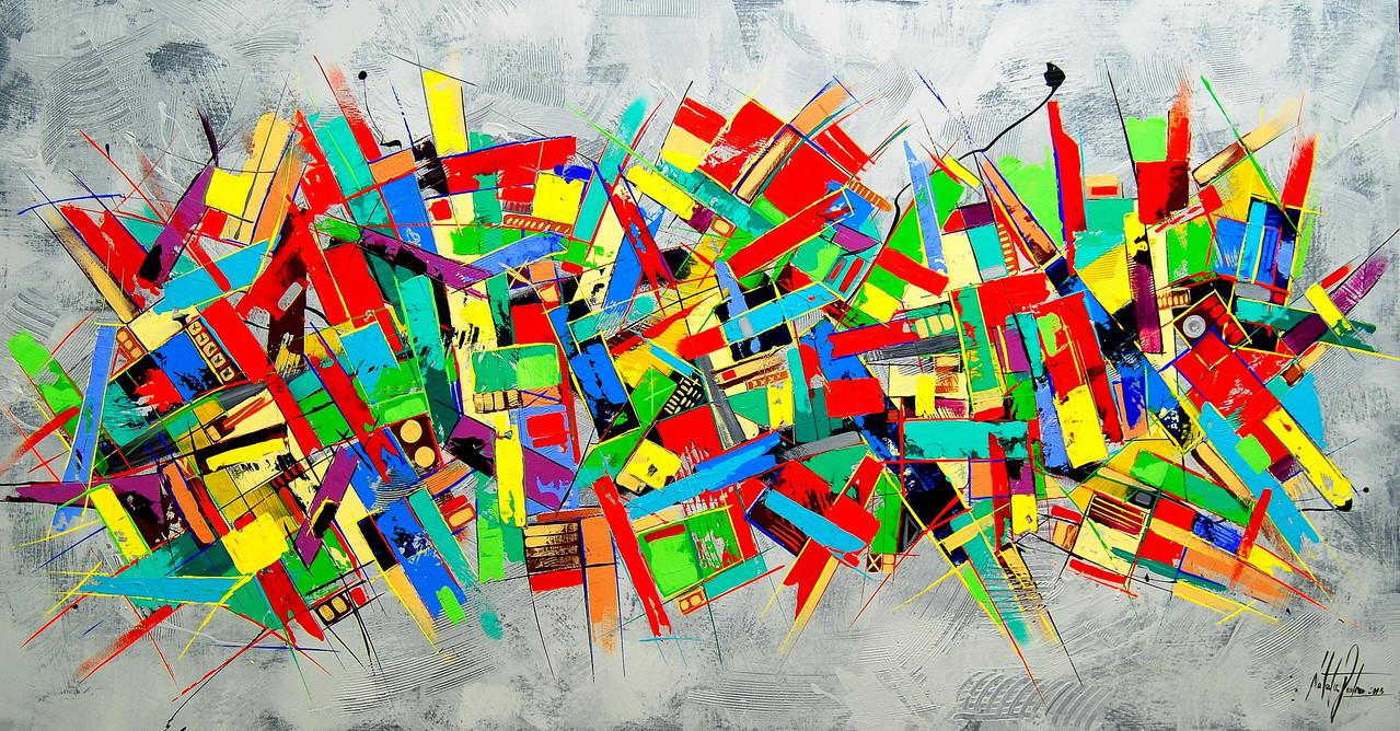 150 x 80 cm Acryl auf Leinwand, Galeriekeilrahmen.