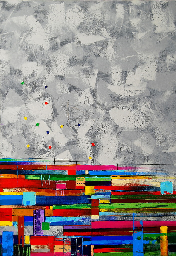 90 x 60 cm Acryl auf Leinwand, Galeriekeilrahmen.