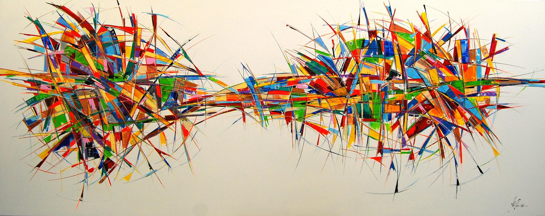 300 x 120 cm Acryl auf Leinwand, Galeriekeilrahmen.