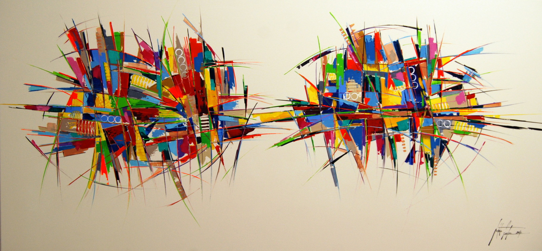 160 x 70cm Acryl auf Leinwand, Galeriekeilrahmen.