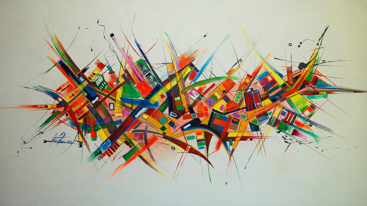 140 x 80 cm Acryl auf Leinwand, Galeriekeilrahmen.