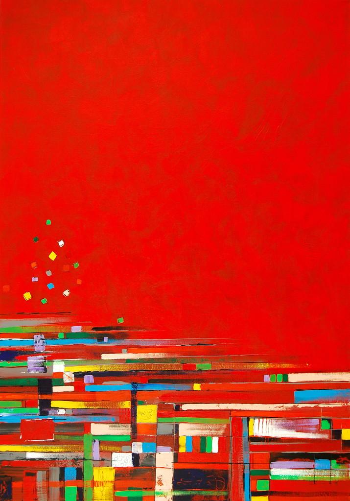 100 x 70 cm Acryl auf Leinwand, Galeriekeilrahmen.
