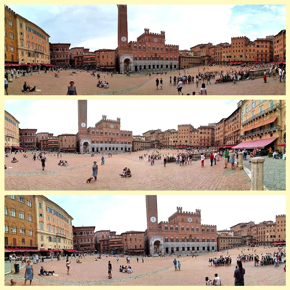 Das ist Sienas Campo, ein Platz zum Bummeln, Dösen, Verweilen.