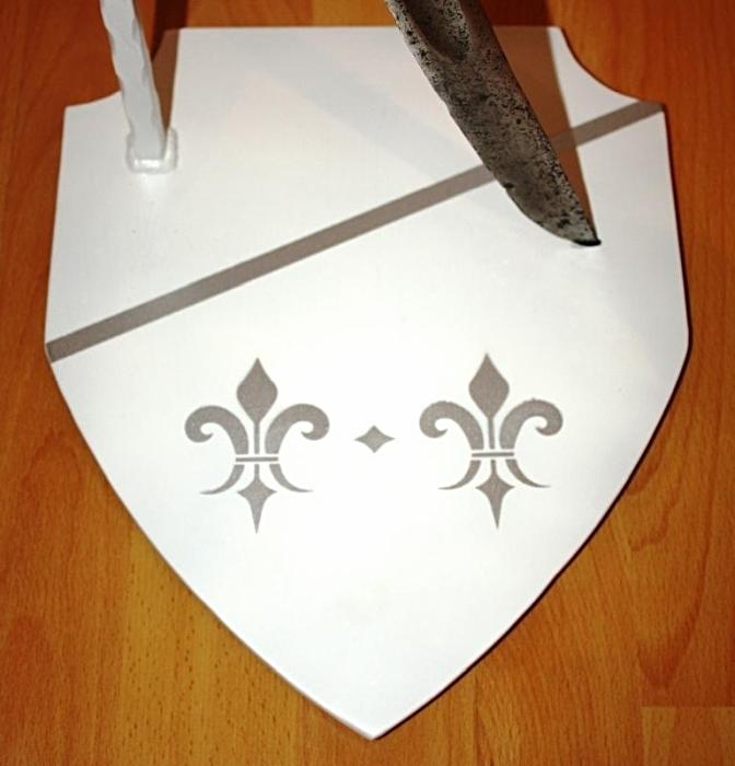 Fußplatte Waffenständer lackiert
