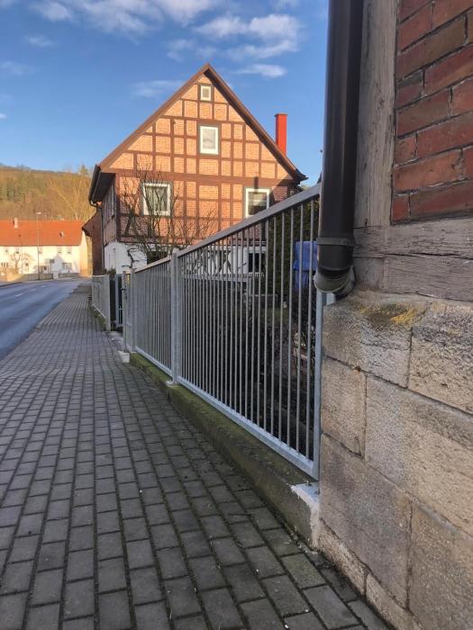 Mediterraner Zaun mit Tor und Tür feuerverzinkt