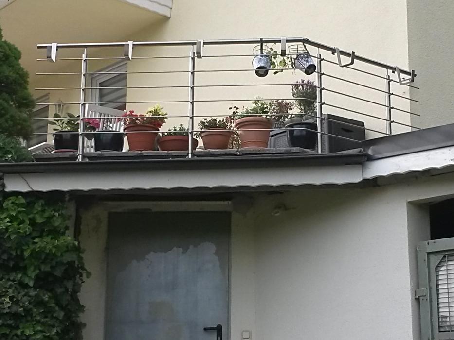Edelstahlfüllstabgeländer mit Blumenkastenhaltern Edelstahl