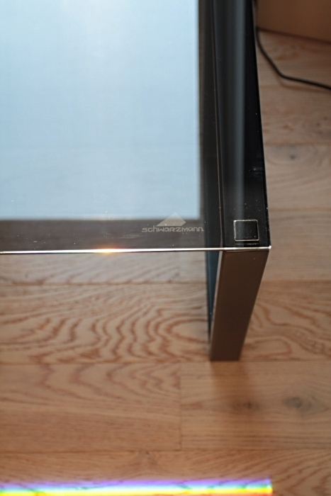 Nachttisch schwarz pulverbeschichtet