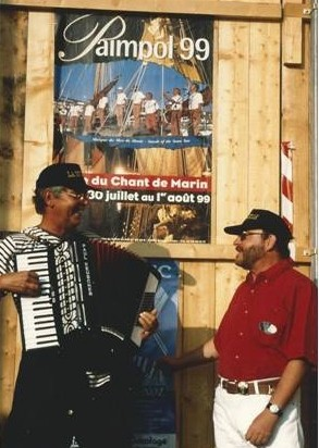 Jean Marie Quiesse - Pierre Koest - Paimpol 1999 photo D. Ferré