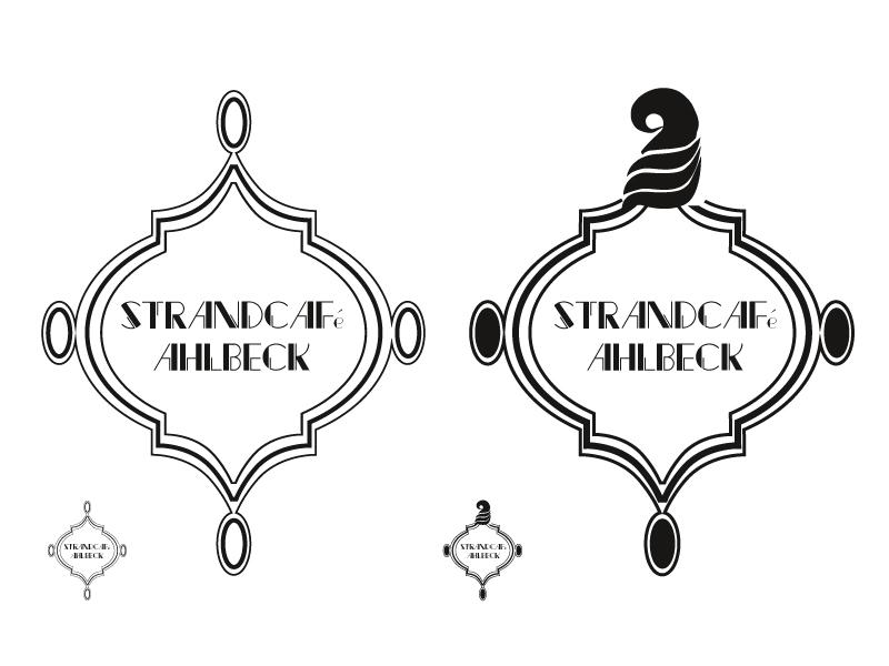 Logoentwurf 03, angelehnt an den Einrichtungsstil der Goldenen Zwanziger