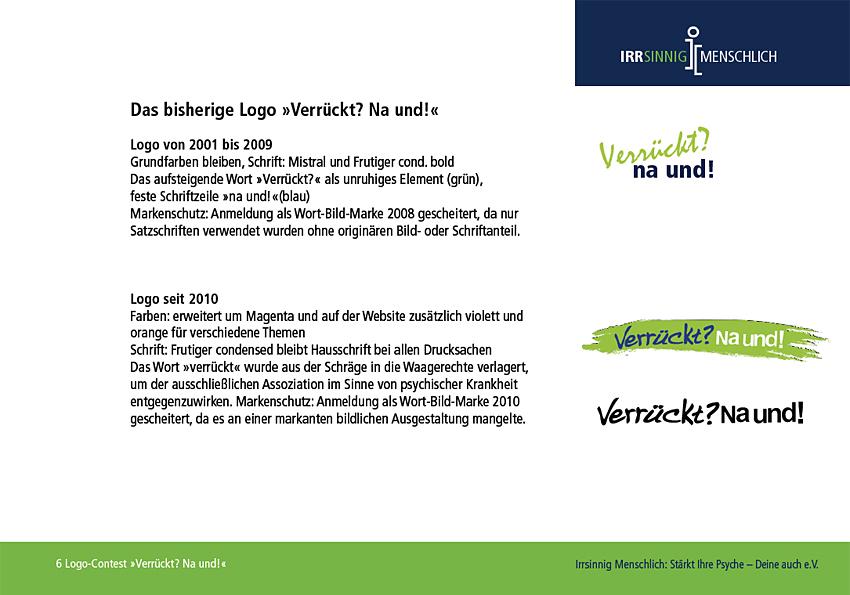 altes Logo und Briefing für den Logo-Contest