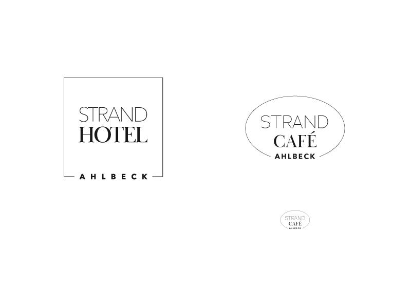 Logo-Gegenüberstellung von Hotel und Café