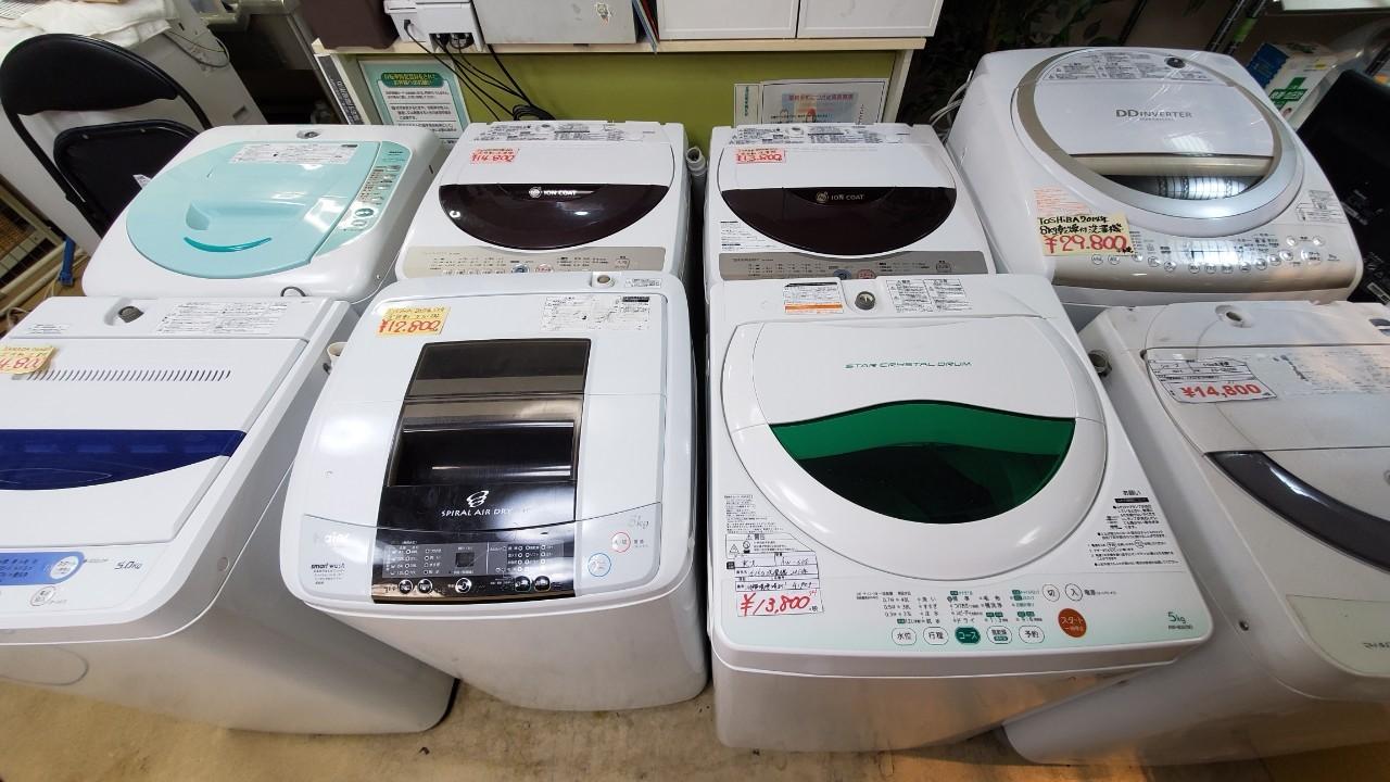 札幌中央区リサイクルショップの洗濯機販売スペース