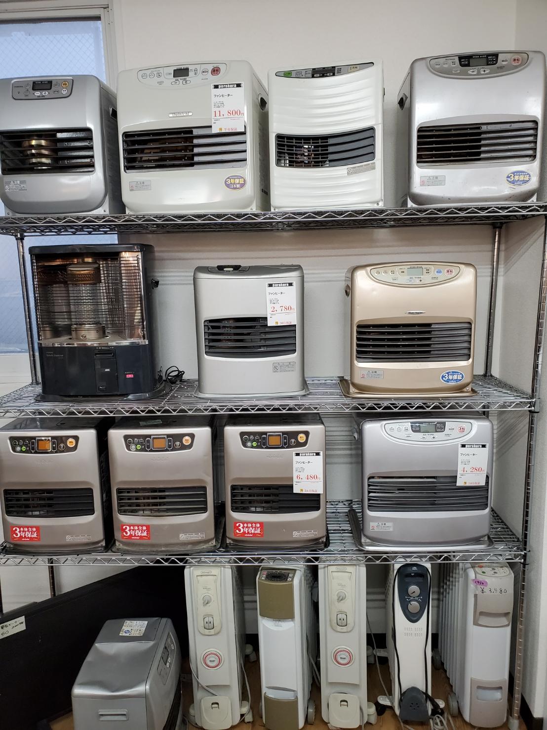 札幌中央区ファンヒーター中古販売セール中♪