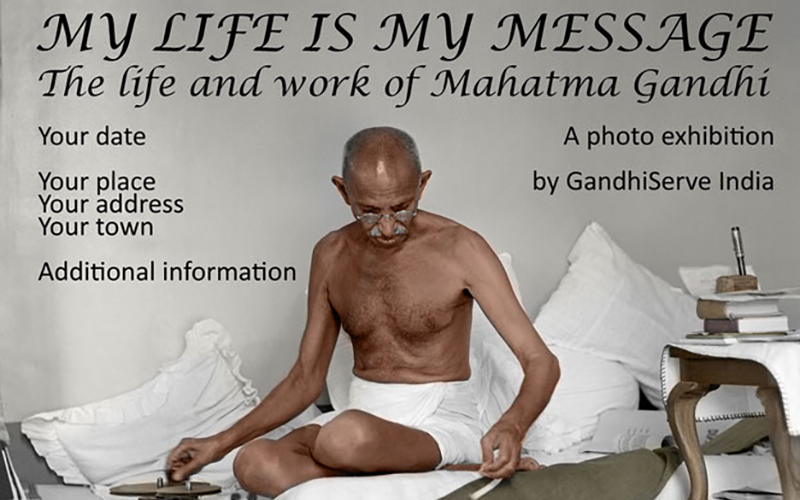 Photo exhibition MY LIFE IS MY MESSAGE