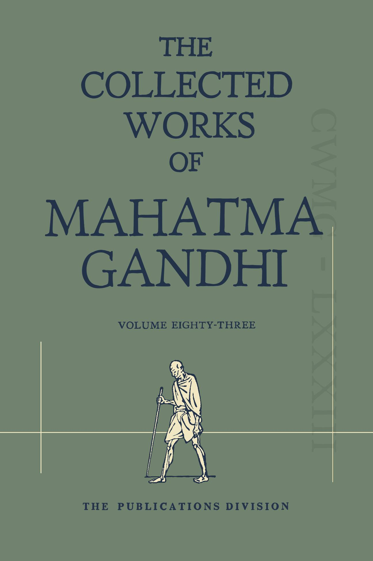 CWMG - Vol  83 - GandhiServe Foundation