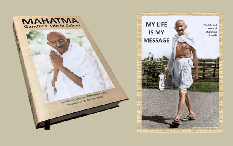 MAHATMA - Gandhi's Life in Colour / MY LIFE IS MY MESSAGE - The Life and Work of Mahatma Gandhi