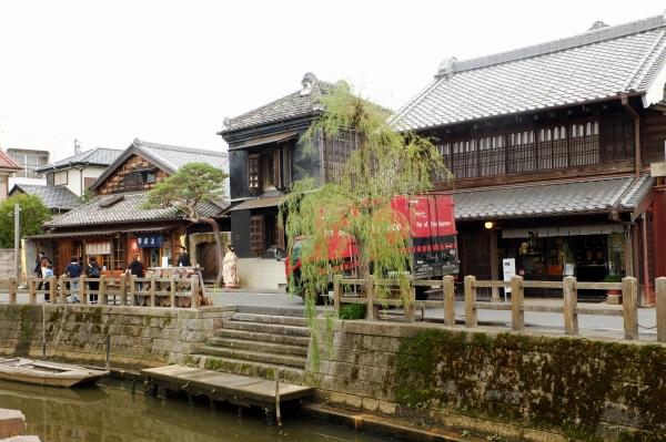 千葉県香取市、佐原の歴史的町並み