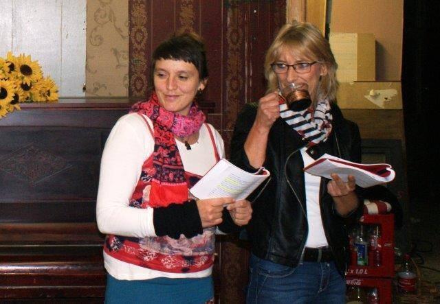 Unsere beiden neuen Darstellerinnen: Janice Müller und Christine Schneider als Ela Delehay und die echte Donna Lucia!