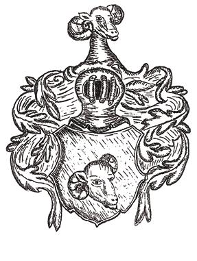 Das Wappen derer zu Widderstein aus der Kirche in Irmgardeichen