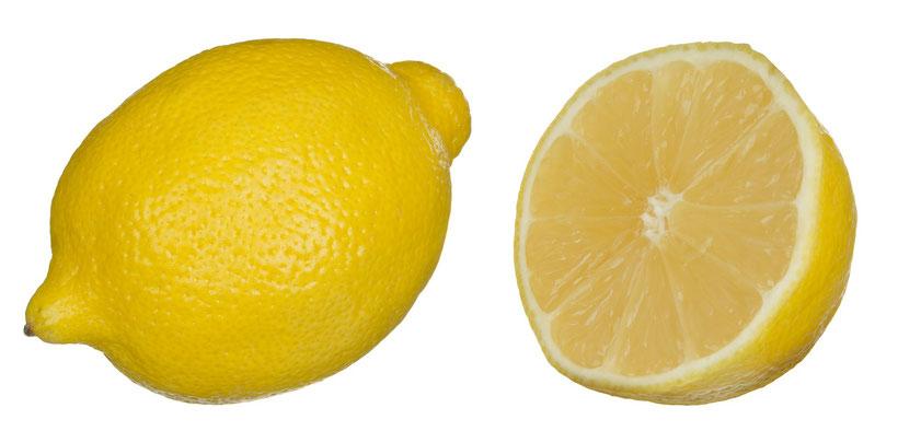 Een citroen is weliswaar zuur maar kun je gerust eten want citroen heeft juist een base overschot.