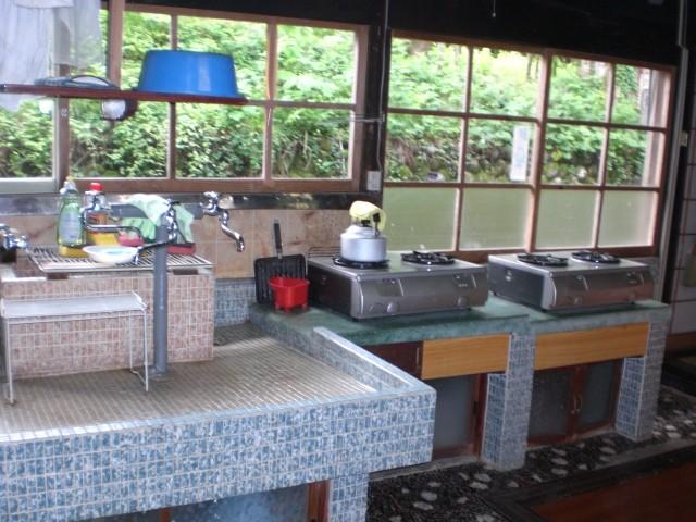 自炊用の炊事場